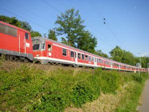 DB-Silberlinge auf Frankenbahn