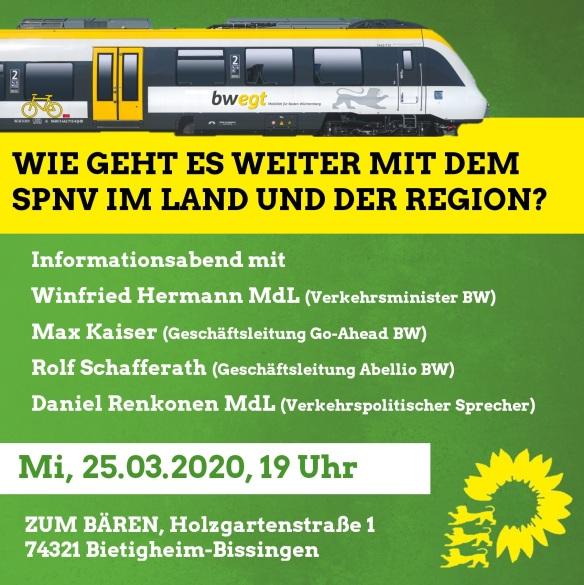 Sharepic Infoabend SPNV 25.03. Bietigheim-Bissingen
